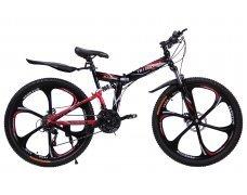 """Велосипед скоростной """"Troblade 5.0 GX"""" 26 на литых дисках складной, 24 скорости, черно-красный"""
