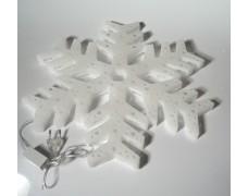 Пластиковая Снежинка светящаяся LED