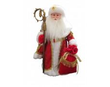 Дед Мороз музыкальный красный 50 см