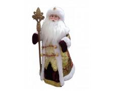 Дед Мороз музыкальный бордовый 50 см