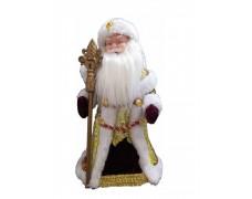 Дед Мороз музыкальный бордовый 40 см