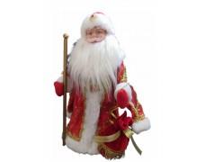 Дед Мороз музыкальный красный 40 см