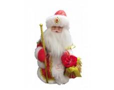 Дед Мороз музыкальный красный 30 см