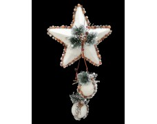 Новогоднее украшение Подвеска Звезда с шишками