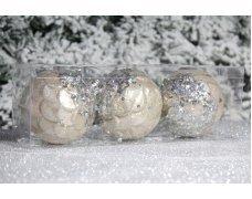 """Новогодние шары на елку """"Золотые пайетки"""" 8см 3шт 96pcs"""