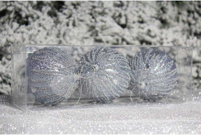 """Новогодние шары на елку """"Дождики"""" 8см 3шт 96pcs"""