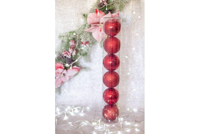 Набор шаров 8см 6шт в тубе(7 цв)(48pcs)