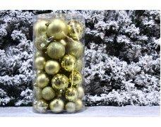 Набор шаров 5(10шт),6(13шт),7(12шт),8(12шт),10см(7шт) 52шт цвет в ассортименте(5 цв)(4pcs)