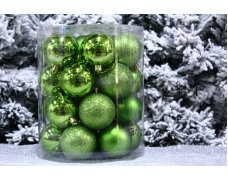 Набор шаров 6см 30шт цвет в ассортименте(10цв)(12pcs)